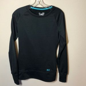 Black Long Sleeve Under Armour Fitted Waffle Shirt